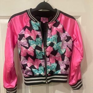 Jojo Siwa satin pink and black jacket size 6